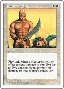 Magic the Gathering Fifth Edition Single Card Rare Eye for an Eye