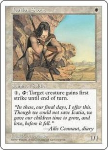 Magic the Gathering Fifth Edition Single Card Common Icatian Scout