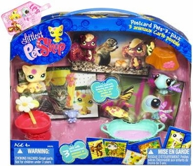 Littlest Pet Shop Postcard Pets 3-Pack Cat, Squirrel & Dragonfly