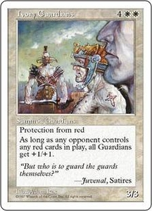 Magic the Gathering Fifth Edition Single Card Uncommon Ivory Guardians