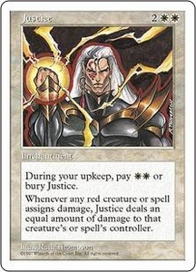 Magic the Gathering Fifth Edition Single Card Uncommon Justice