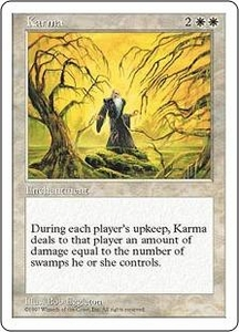 Magic the Gathering Fifth Edition Single Card Uncommon Karma