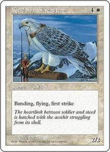 Magic the Gathering Fifth Edition Single Card Uncommon Kjeldoran Skycaptain