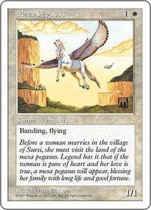Magic the Gathering Fifth Edition Single Card Common Mesa Pegasus