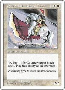 Magic the Gathering Fifth Edition Single Card Rare Order of the Sacred Torch