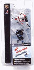 McFarlane Toys NHL 3 Inch Sports Picks Series 2 Mini Figure 2-Pack Scott Stevens (New Jersey Devils) & Markus Naslund (Vancouver Canucks)
