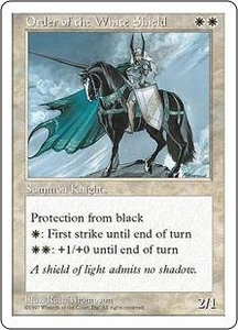Magic the Gathering Fifth Edition Single Card Uncommon Order of the White Shield