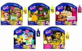 Littlest Pet Shop Series 4 Set of 5 Postcard Pets [Raccoon, Angelfish, Deer, Butterfly & Bassett Hound]