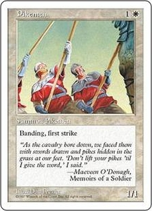 Magic the Gathering Fifth Edition Single Card Common Pikemen