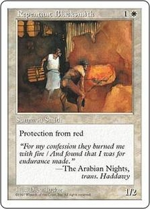 Magic the Gathering Fifth Edition Single Card Common Repentant Blacksmith