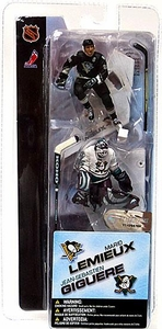 McFarlane Toys NHL 3 Inch Sports Picks Series 1 Mini Figure 2-Pack Mario Lemieux (Pittsburgh Penguins) & Jean Sebastien Giguere (Anaheim Mighty Ducks)