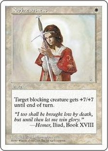 Magic the Gathering Fifth Edition Single Card Rare Righteousness