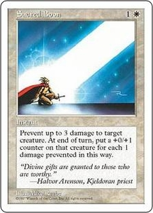 Magic the Gathering Fifth Edition Single Card Uncommon Sacred Boon