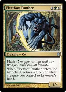 Magic the Gathering Duel Decks: Ajani vs. Nicol Bolas Single Card Gold Uncommon #12 Fleetfoot Panther