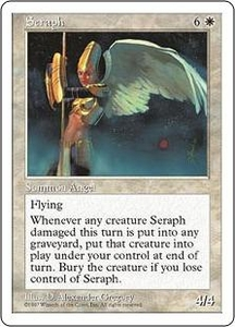 Magic the Gathering Fifth Edition Single Card Rare Seraph