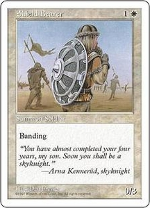 Magic the Gathering Fifth Edition Single Card Common Shield Bearer
