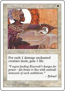Magic the Gathering Fifth Edition Single Card Uncommon Spirit Link