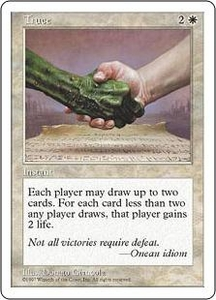 Magic the Gathering Fifth Edition Single Card Rare Truce