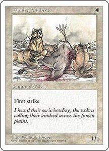 Magic the Gathering Fifth Edition Single Card Common Tundra Wolves