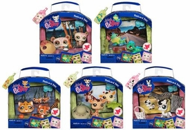Littlest Pet Shop Series 1 Set of 5 Postcard Pets [Giraffe, Zebra, Tiger, Iguana & Panda]