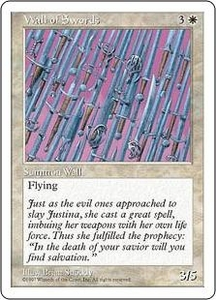 Magic the Gathering Fifth Edition Single Card Uncommon Wall of Swords