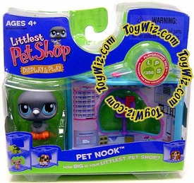 Littlest Pet Shop Series 2 Nook Figure Gray Dove in Post Office