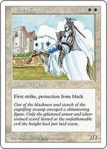 Magic the Gathering Fifth Edition Single Card Uncommon White Knight