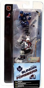 McFarlane Toys NHL 3 Inch Sports Picks Series 1 Mini Figure 2-Pack Mats Sundin (Toronto Maple Leafs) & Peter Forsberg (Colorado Avalanche)