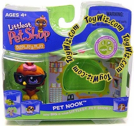 Littlest Pet Shop Series 2 Nook Figure Wise Owl with Glasses in Library