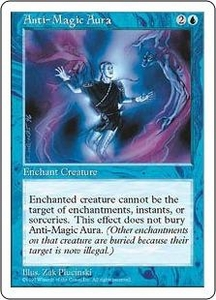 Magic the Gathering Fifth Edition Single Card Uncommon Anti-Magic Aura