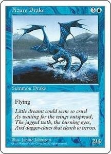 Magic the Gathering Fifth Edition Single Card Uncommon Azure Drake