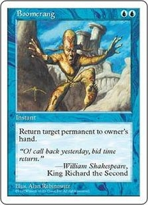 Magic the Gathering Fifth Edition Single Card Common Boomerang
