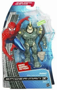 Spider-Man 3 Hasbro Movie Action Figure Rhino [Head Smash Attack]