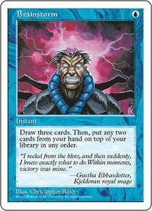 Magic the Gathering Fifth Edition Single Card Common Brainstorm