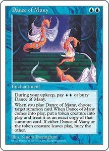 Magic the Gathering Fifth Edition Single Card Rare Dance of Many