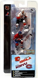 McFarlane Toys NHL 3 Inch Sports Picks Series 1 Mini Figure 2-Pack Jarome Iginla (Calgary Flames) & Saku Koivu (Montreal Canadiens)