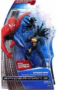 Spider-Man 3 Hasbro Movie Action Figure Spider-Man [Symbiote Busting Double Punch]