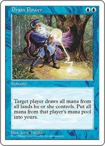Magic the Gathering Fifth Edition Single Card Rare Drain Power