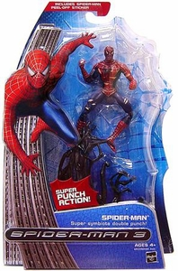 Spider-Man 3 Hasbro Movie Action Figure Spider-Man [Super Symbiote Double Punch]