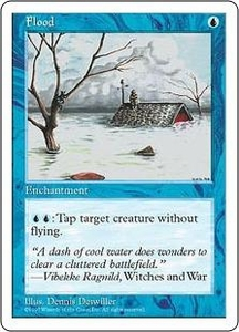 Magic the Gathering Fifth Edition Single Card Common Flood