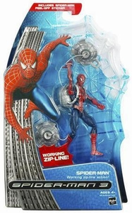 Spider-Man 3 Hasbro Movie Action Figure Spider-Man [Working Zip-Line Action]
