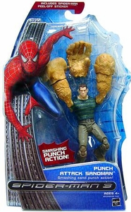 Spider-Man 3 Hasbro Movie Action Figure Sandman [Smashing Sand Punch]