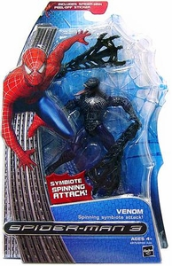 Spider-Man 3 Hasbro Movie Action Figure Venom [Spinning Symbiote Attack]