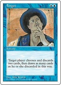 Magic the Gathering Fifth Edition Single Card Rare Forget
