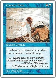 Magic the Gathering Fifth Edition Single Card Common Gaseous Form