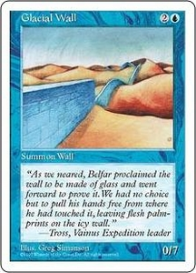Magic the Gathering Fifth Edition Single Card Uncommon Glacial Wall