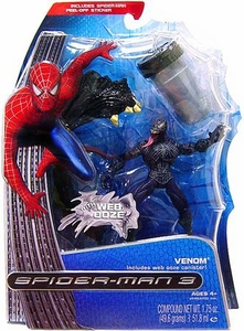 Spider-Man 3 Hasbro Movie Ooze Attack Action Figure Venom with Web Ooze Damaged Package, Mint Contents!