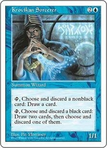 Magic the Gathering Fifth Edition Single Card Common Krovikan Sorcerer
