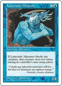 Magic the Gathering Fifth Edition Single Card Common Labyrinth Minotaur