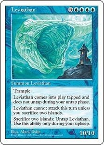 Magic the Gathering Fifth Edition Single Card Rare Leviathan